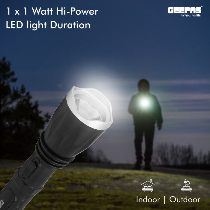 Rechargeable LED Flashlight Lighting Geepas | For you. For life.