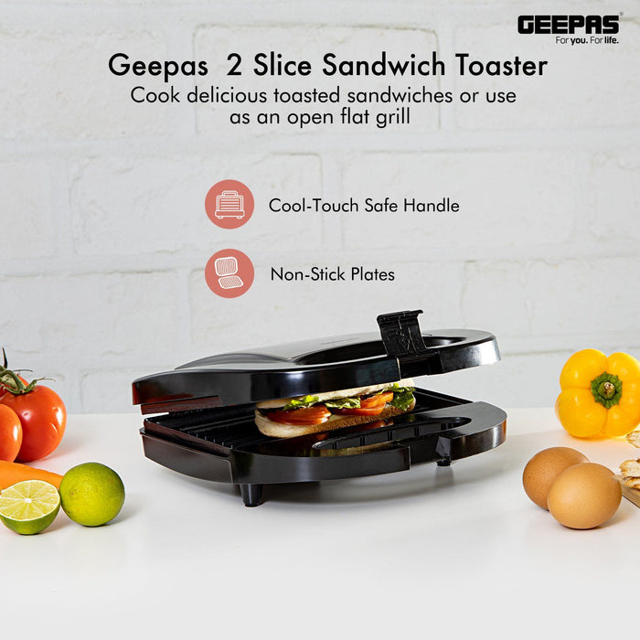 750W Grill Maker & Griddle Toasty Maker Sandwich Maker Geepas | For you. For life.