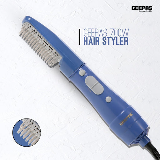 Hair Styler with 2 Speeds Settings | 700W |360° Swivel Cord Geepas | For you. For life.
