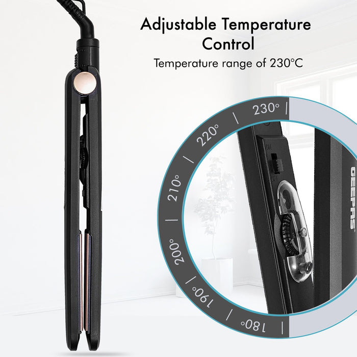 45W Easy Style Ceramic Hair Straighteners Hair Straighteners Geepas | For you. For life.