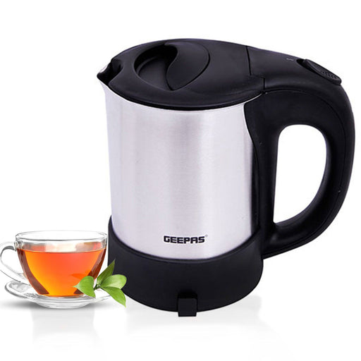 1000W Stainless Steel Travel Electric Kettle Kettle Geepas | For you. For life.
