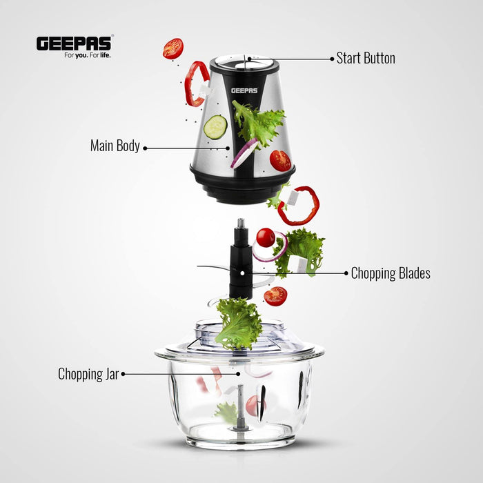 Multi Chopper | 400W |1.2 Liters Glass Jar Geepas | For you. For life.