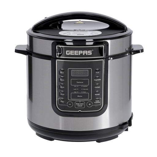 1000W 7-in-1 Electric Pressure Cooker, Steamer 6L Digital Multicooker Cooker Geepas | For you. For life.