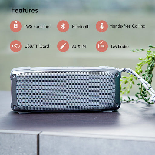 Portable Bluetooth Speaker Wireless Rechargeable USB/TF/AUX/MP3/FM/TWS Speakers Geepas | For you. For life.
