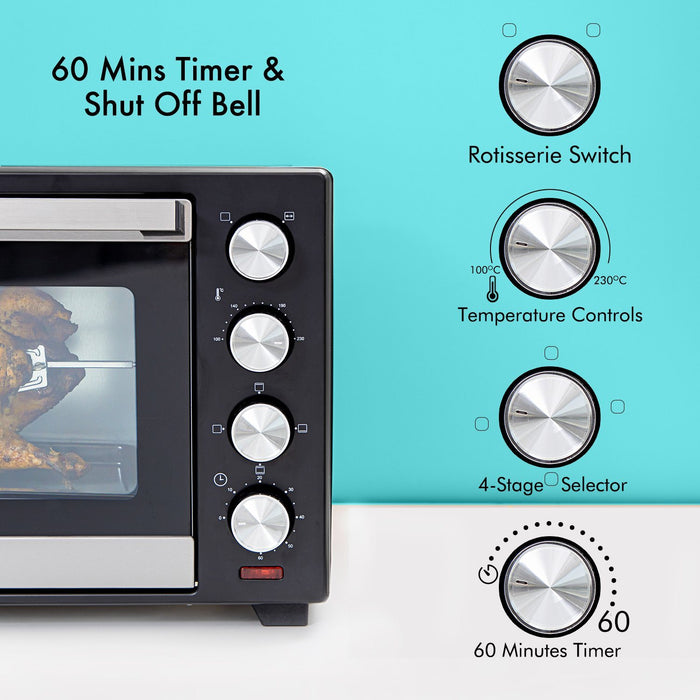 1600W Mini Oven and Grill, 38L Oven Geepas | For you. For life.