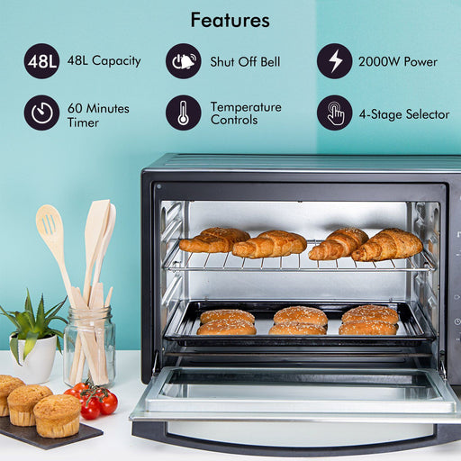 2000W Mini Oven and Grill, 48L Oven Geepas | For you. For life.