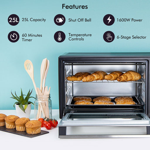 1600W Mini Oven and Grill, 25L Oven Geepas | For you. For life.