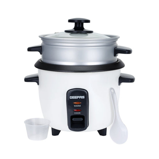 0.6L Rice Cooker with Steamer Rice Cooker Geepas | For you. For life.