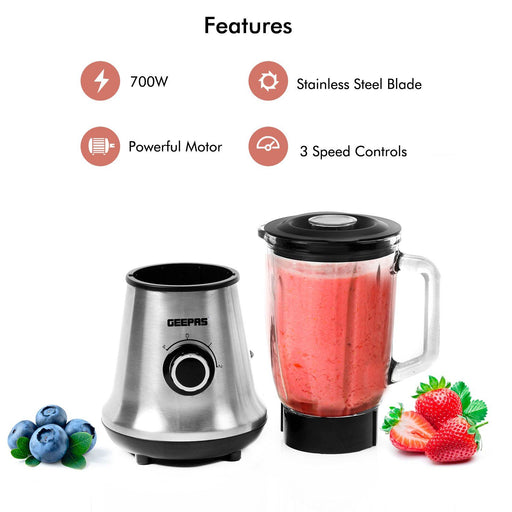 700W Glass Jug Blender Blender Geepas | For you. For life.
