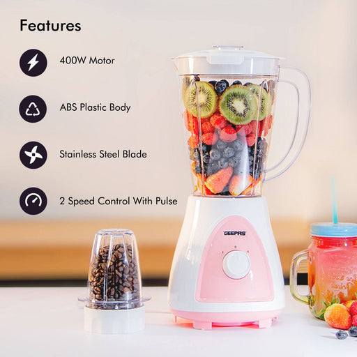 2 in 1 Jug Blender Blender Geepas | For you. For life.