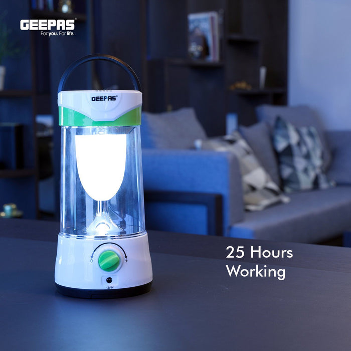 Rechargeable Solar LED Lantern Lighting Geepas | For you. For life.