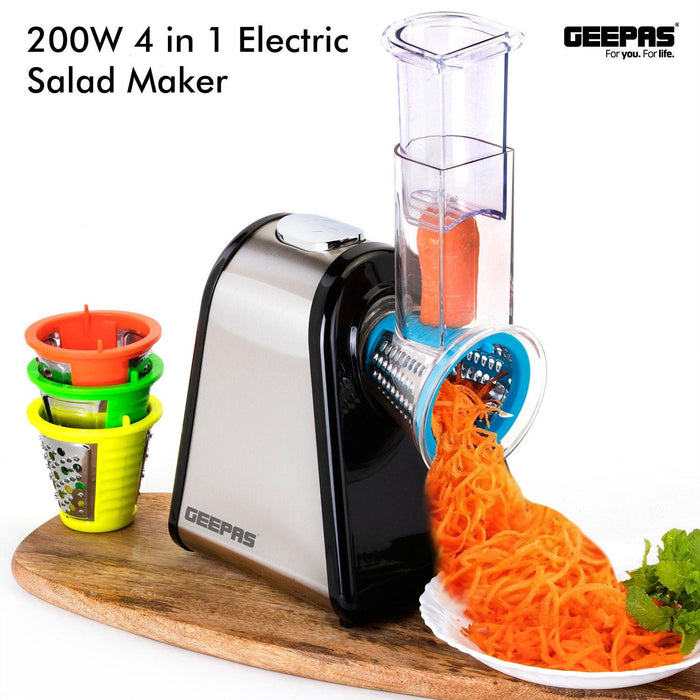 200W 4 in 1 Electric Salad Maker Other Kitchen Geepas | For you. For life.