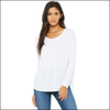 Bella + Canvas 8852 Women's Flowy Long Sleeve Tee with 2x1 Sleeves