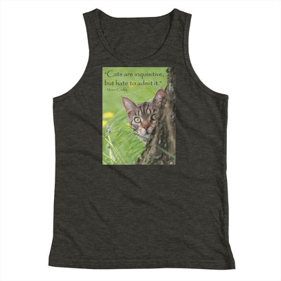 Cats Are Inquisitive But Hate To Admit It – Bella + Canvas 3480Y Unisex Youth Jersey Tank With Tear Away Label