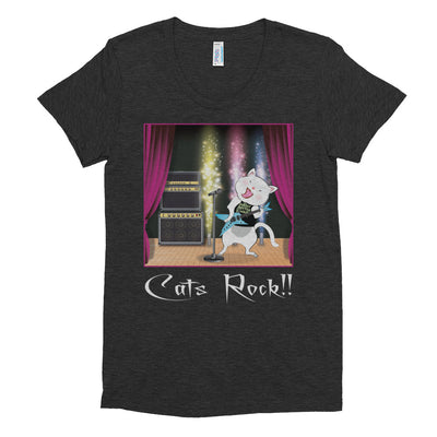 Cats Rock – American Apparel TR301W Women's Tri-Blend T-Shirt