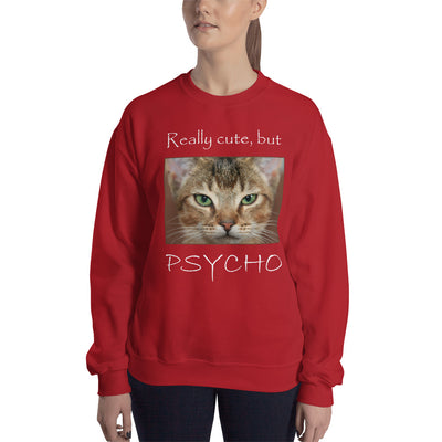 Really cute, but Psycho – Gildan 18000 Unisex Heavy Blend Crewneck Sweatshirt