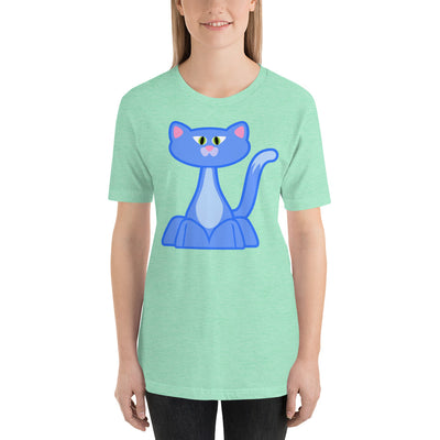 Blue Cat 2 – Bella + Canvas 3001 Unisex Short Sleeve Jersey T-Shirt with Tear Away Label