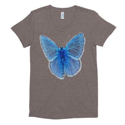 Blue Butterfly – American Apparel TR301W Women's Tri-Blend T-Shirt