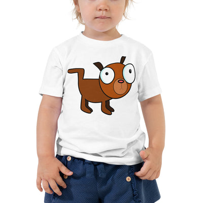 Brown Dog – Bella + Canvas 3001T Toddler Short Sleeve Tee with Tear Away Label