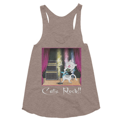 Cats Rock! – American Apparel TR308W Women's Tri-Blend Racerback Tank