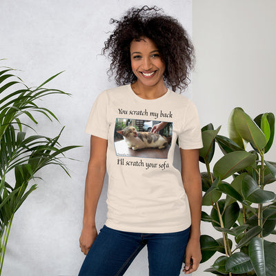 Scratch my back – Bella + Canvas 3001 Unisex Short Sleeve Jersey T-Shirt with Tear Away Label