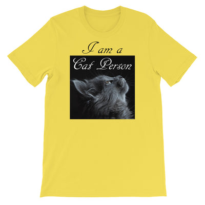 I am a cat person – Bella + Canvas 3001 Unisex Short Sleeve Jersey T-Shirt with Tear Away Label