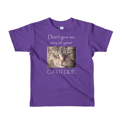 Cattitude – American Apparel 2105W Kids Fine Jersey Short Sleeve T-Shirt