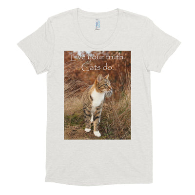 Live your truth.  Cats do. – American Apparel TR301W Women's Tri-Blend T-Shirt