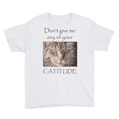 Cattitude – Anvil 990B Youth Lightweight Fashion T-Shirt with Tear Away Label
