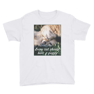 Every cat should have a puppy – Anvil 990B Youth Lightweight Fashion T-Shirt with Tear Away Label