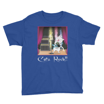 Cats Rock! – Anvil 990B Youth Lightweight Fashion T-Shirt with Tear Away Label