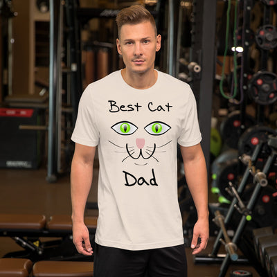 Best cat dad – Bella + Canvas 3001 Unisex Short Sleeve Jersey T-Shirt with Tear Away Label