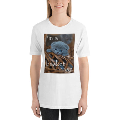 I'm a basket case – Bella + Canvas 3001 Unisex Short Sleeve Jersey T-Shirt with Tear Away Label