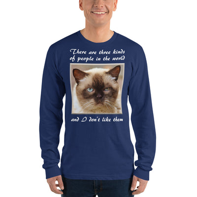 There are three kinds of people – American Apparel 2007 Unisex Fine Jersey Long Sleeve T-Shirt