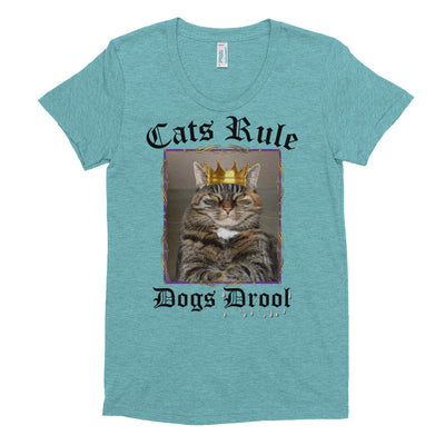 Cats Rule Dogs Drool – American Apparel TR301W Women's Tri-Blend T-Shirt
