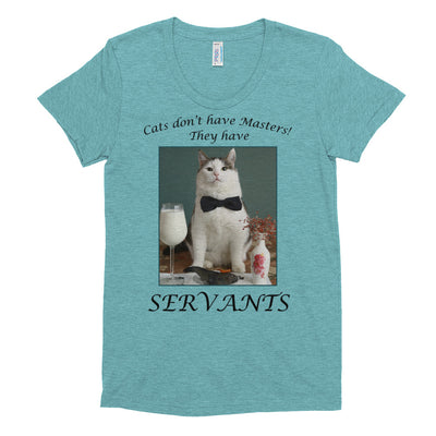 Cats have servants – American Apparel TR301W Women's Tri-Blend T-Shirt