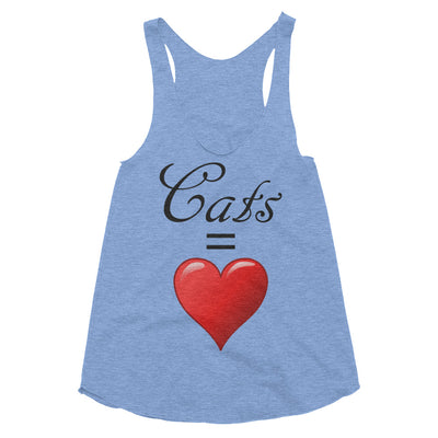 Cats = love – American Apparel TR308W Women's Tri-Blend Racerback Tank