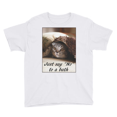 "Just say "" No"" to a bath – Anvil 990B Youth Lightweight Fashion T-Shirt with Tear Away Label"