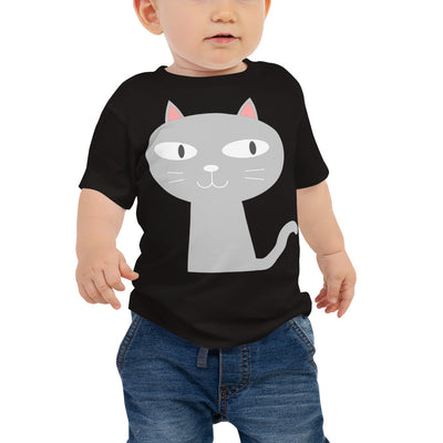 Gray Cat 1 – Bella + Canvas 3001B Baby Jersey Short Sleeve Tee with Tear Away Label