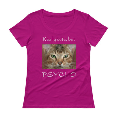 Really cute, but Psycho – Anvil 391 Ladies Sheer Scoopneck T-Shirt with Tear Away Label