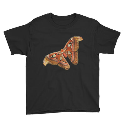 Orange Rust & Tan Butterfly – Anvil 990B Youth Lightweight Fashion T-Shirt with Tear Away Label