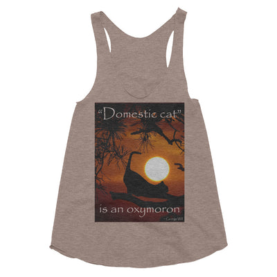 """Domestic cat"" is an oxymoron – American Apparel TR308W Women's Tri-Blend Racerback Tank"