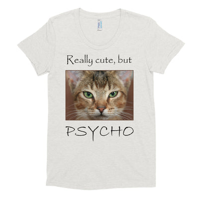Really cute, but Psycho – American Apparel TR301W Women's Tri-Blend T-Shirt