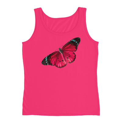 Red Butterfly – Anvil 882L Ladies Missy Fit Ringspun Tank Top with Tear Away Label