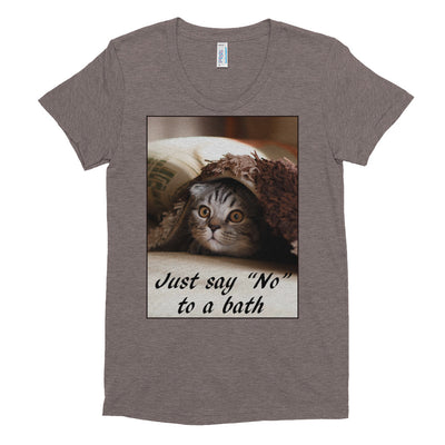 "Just say ""No"" to a bath – American Apparel TR301W Women's Tri-Blend T-Shirt"