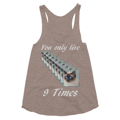 You only live 9 times – American Apparel TR308W Women's Tri-Blend Racerback Tank