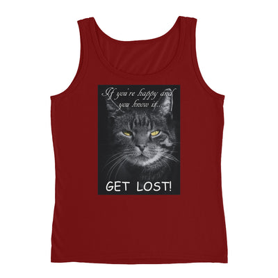 Get lost – Anvil 882L Ladies Missy Fit Ringspun Tank Top with Tear Away Label