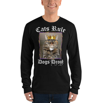 Cats Rule Dogs Drool – American Apparel 2007 Unisex Fine Jersey Long Sleeve T-Shirt