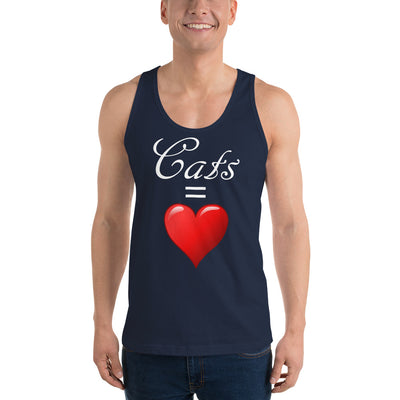 Cats = love – American Apparel 2408 Fine Jersey Tank Top Unisex