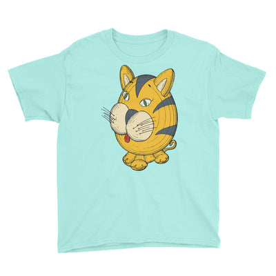 Striped cat – Anvil 990B Youth Lightweight Fashion T-Shirt with Tear Away Label
